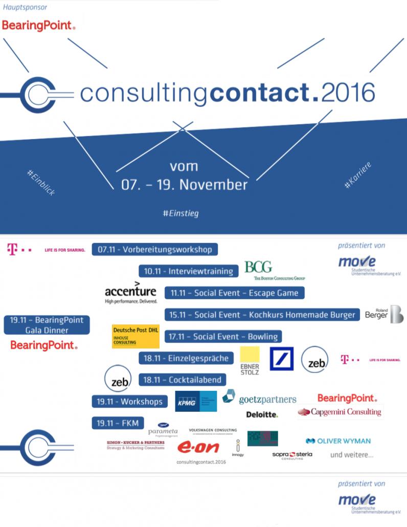 consultingcontact.2016: Einblick.Einstieg.Karriere
